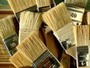 Tipos y usos de Brochas o Pinceles para pintar