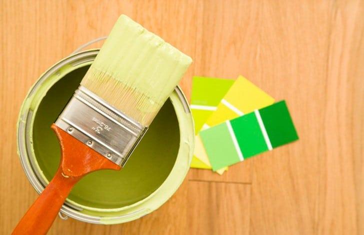 Colores de pintura verdes