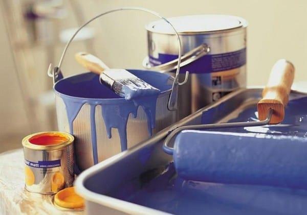 Pintura al agua para paredes l tex acr licos vin licos - Pintura metalizada para paredes ...