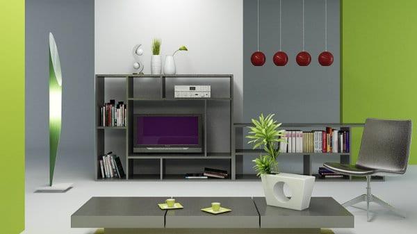 Combinaciones de colores con verde manzana for Muebles de oficina jovalu