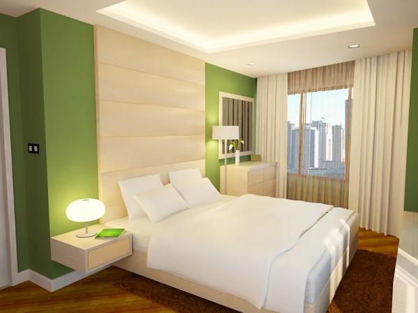 Blanco y verde manzana para pintar tu casa - Colores que combinan con el granate en paredes ...