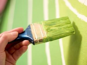 Preparación casera de pintura con cal