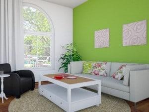 Blanco y verde manzana para pintar tu casa