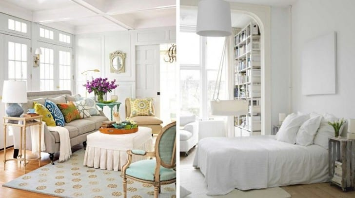 Salón dormitorio blanco