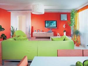 Combinar el rojo con verde en decoración