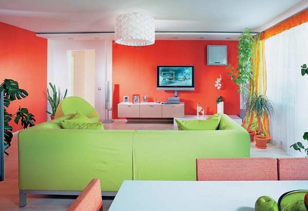 Combinar el rojo con verde en decoraci n for Combinar colores decoracion salon