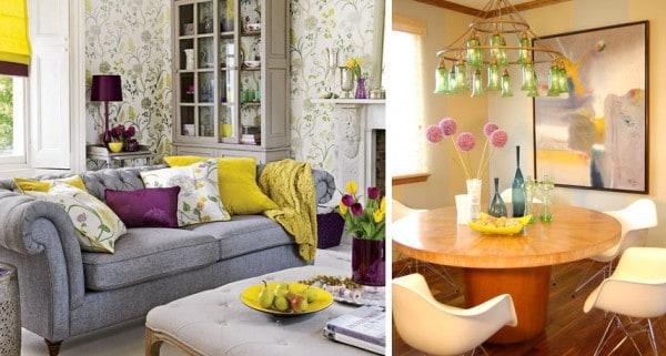 sillon salon violeta amarillo