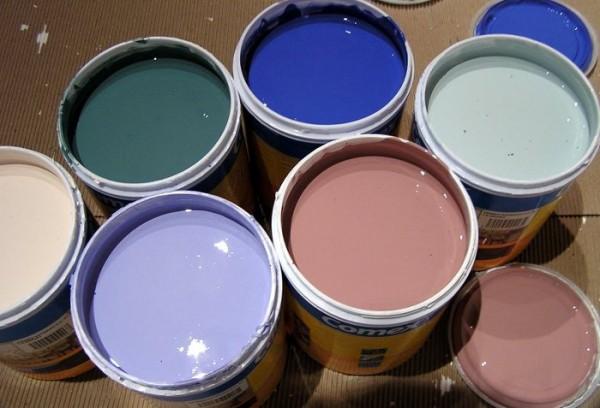 Pinturas látex en colores