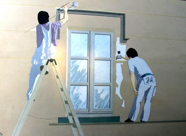 Pintores en la pared