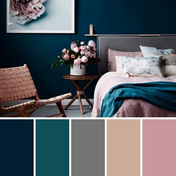 El color azul en las paredes y la decoraci n de interiores - Colores azules para paredes ...