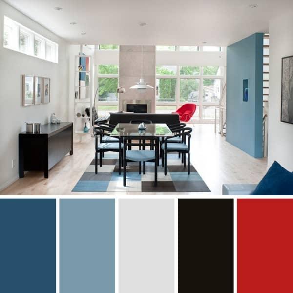 C mo combinar paredes de color azul celeste for Cuarto azul con gris