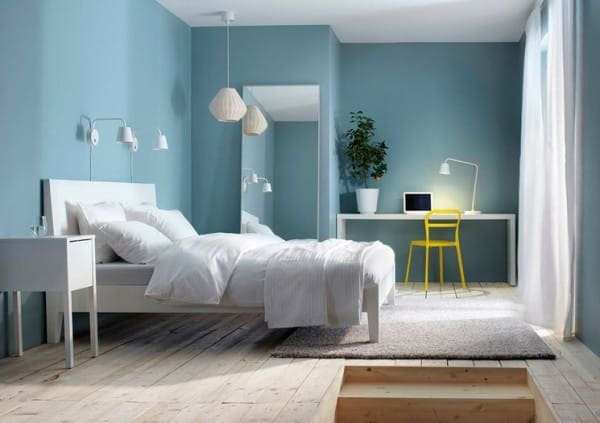 C mo combinar paredes de color azul celeste for Camere da letto minimal chic