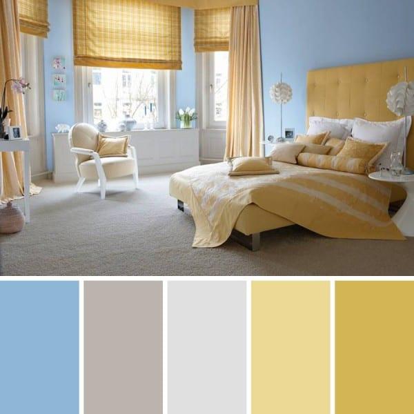 C mo combinar paredes de color azul celeste - Colores que combinan con wengue ...