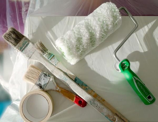 Herramientas comunes para pintar paredes