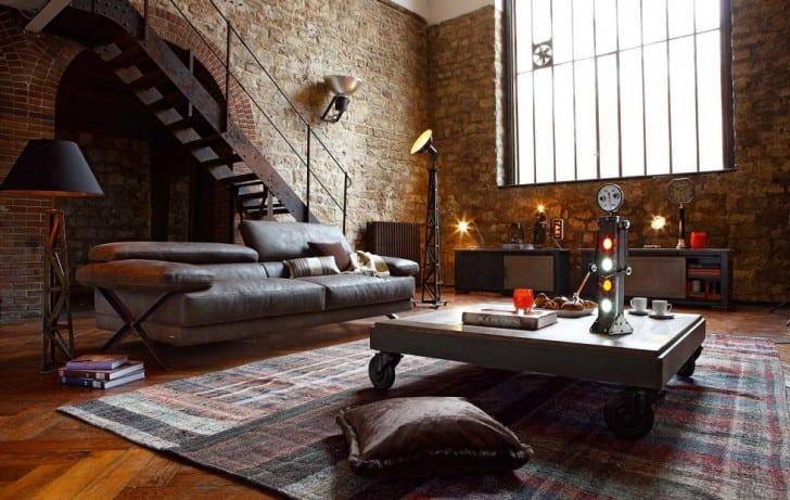 Gran sala estilo industrial