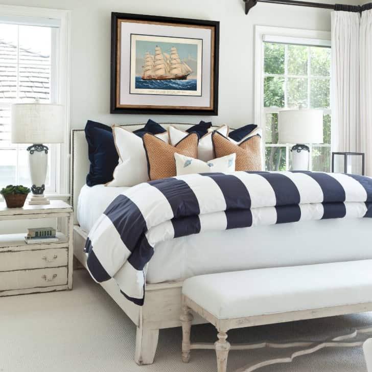 Dormitorio estilo marino