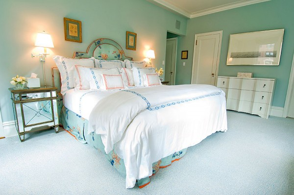Dormitorio verde berilo