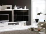Interiores en combinación de blanco y negro