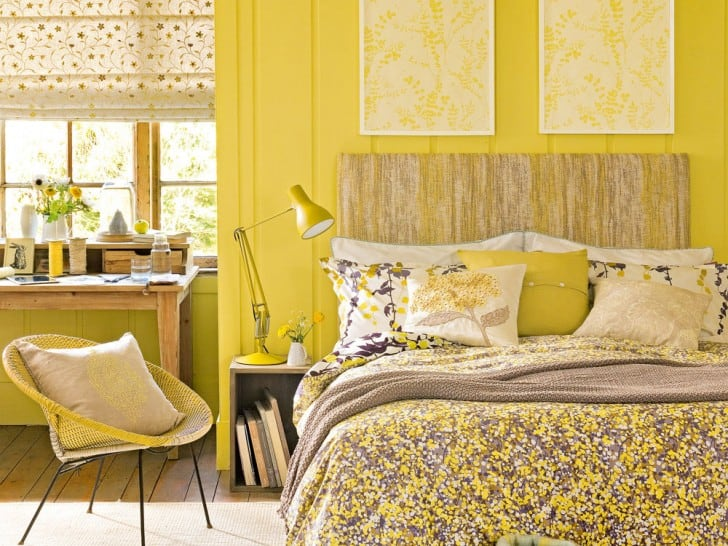 Las paredes interiores en color amarillo for Decoracion clasica moderna interiores