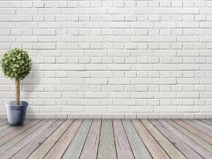 Ladrillo visto pintado de blanco y otros colores