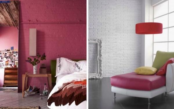 Ladrillo visto pintado en blanco y colores - Muebles de colores pintados ...