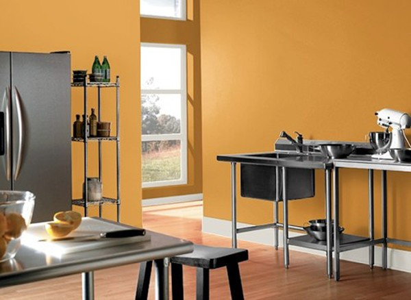 Paredes de la cocina en naranja - Color salmon en paredes ...