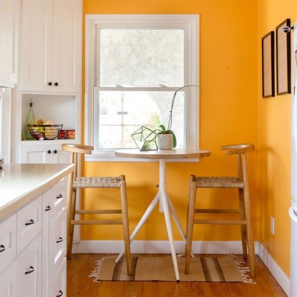 Paredes de la cocina en naranja for Modelos para pintar paredes interiores