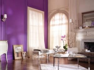 Beige y púrpura, una bella combinación