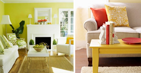 living pintura verde limón