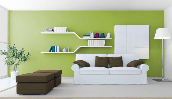 Verdes c lidos medios y fr os para tus interiores for Pintura de interiores de casas salas