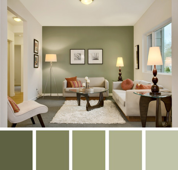 Verdes secos relajantes y armoniosos for Gama de colores vivos