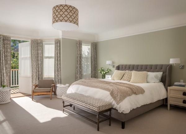 Dormitorio grande verde seco gris