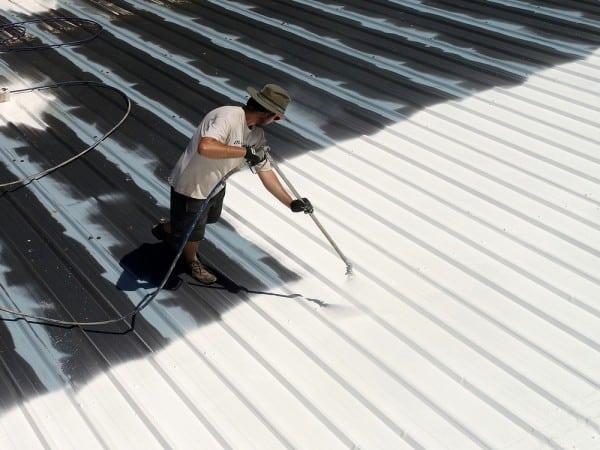 Pintar techo exterior de chapa