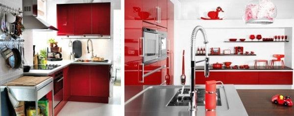 Cocinas En Blanco Y Rojo Pintomicasacom - Cocinas-en-rojo