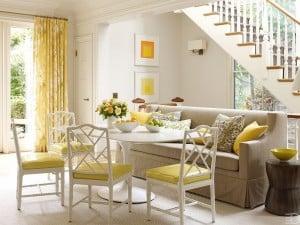 Con toques de color amarillo alegrarás tu casa