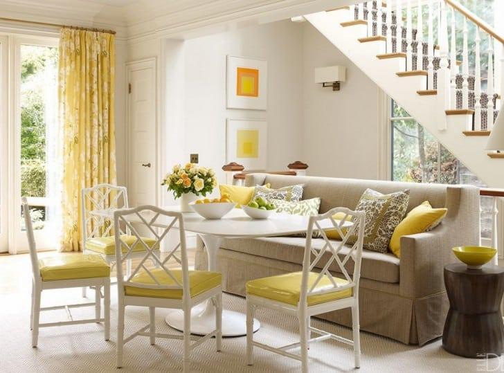 Ambiente blanco y amarillo