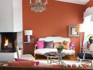 Pintura color terracota o teja