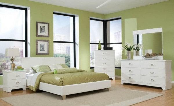 Muebles blancos f ciles de combinar for Dormitorio blanco y madera