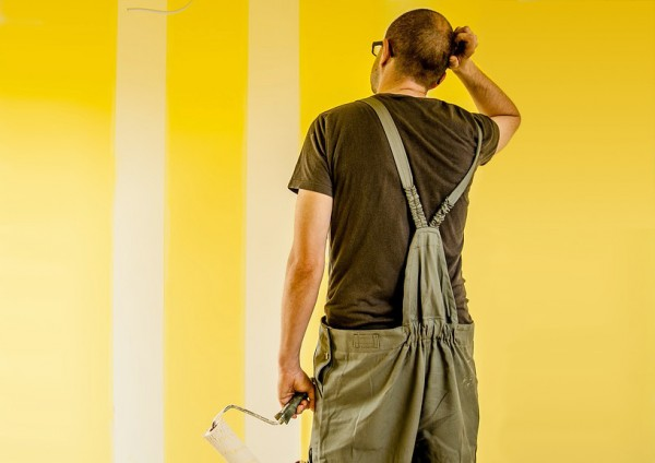 Probando pintura en pared