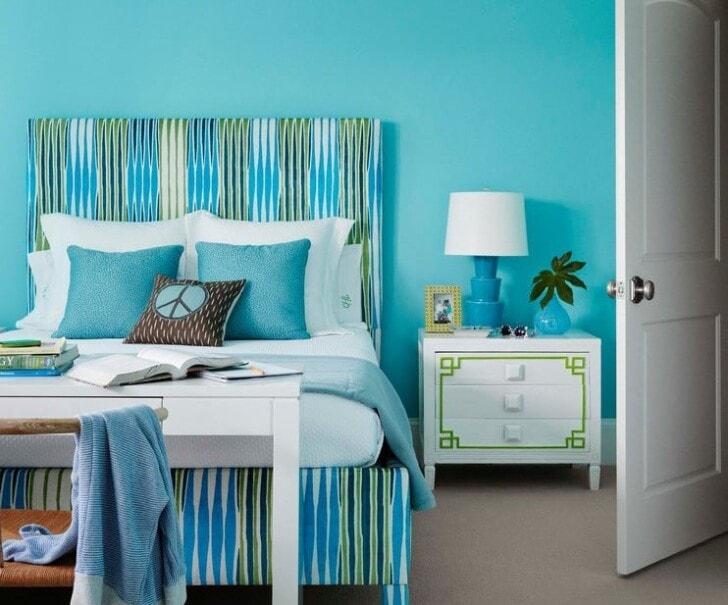 Color turquesa, recomendaciones al pintar los interiores de ...