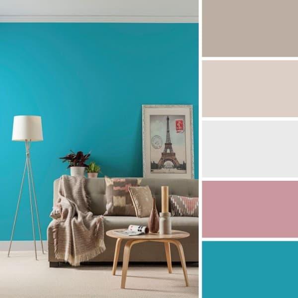 Color turquesa recomendaciones al pintar los interiores for Paredes turquesa y gris