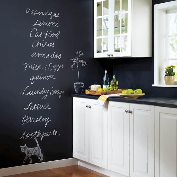 Pintura pizarra en la cocina