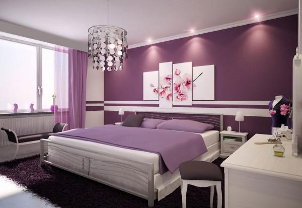 Violeta y blanco