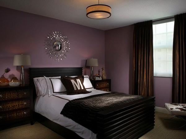C mo combinar paredes en violeta - Combinar color gris en paredes ...