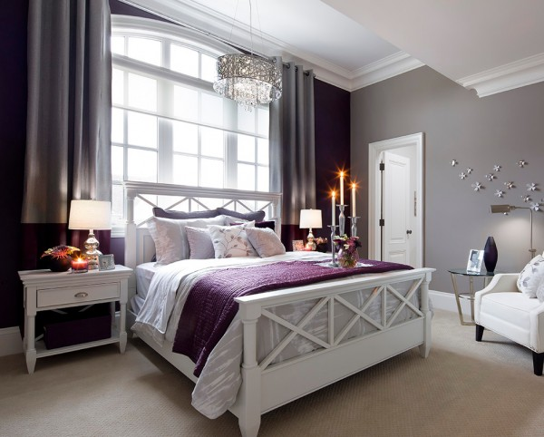 C mo combinar paredes en violeta for Habitacion lila y blanca