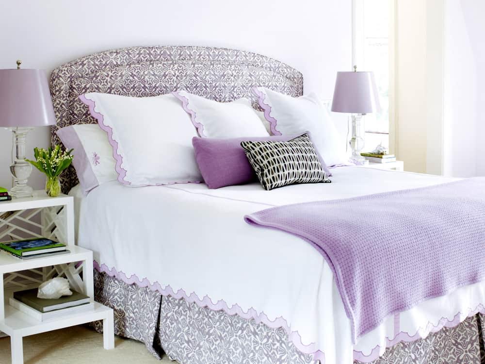 Dormitorio en color malva