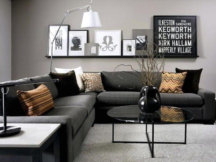 El color de las paredes con muebles negros y oscuros for Muebles grises