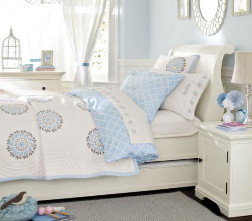 Combinaciones de colores para cuartos de ni as for Habitaciones con muebles blancos