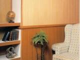 Paredes interiores revestidas con madera