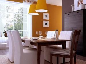 Color naranja para el comedor